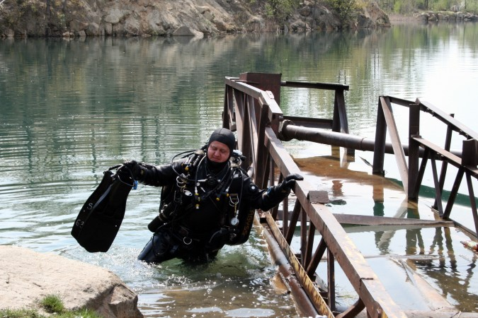 Выход из воды — самая тяжёлая часть дайва